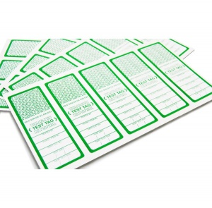 100 x All Purpose Test Tags - Single Colour - Green